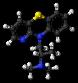 Isothipendyl - Image: Isothipendyl molecule ball