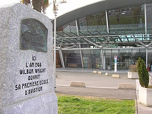 Béarn - Monument to the world's first aviation school at Pau Pyrénées Airport.