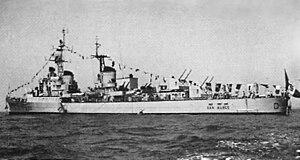 Capitani Romani-class cruiser - San Marco, formerly Giulio Germanico, in 1959