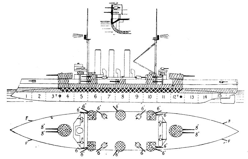 Elevation Plan Wiki : File izumo class armored cruiser left elevation plan g