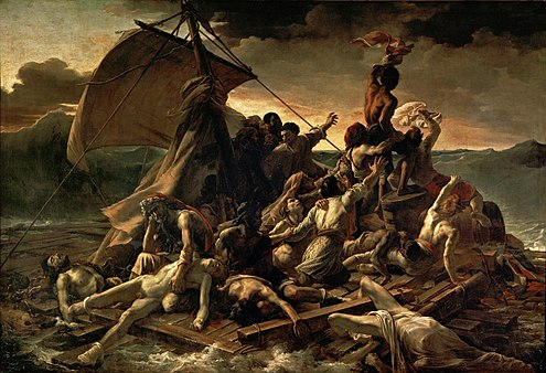 Theodore Gericault's Raft of the Medusa, circa 1820 JEAN LOUIS THEODORE GERICAULT - La Balsa de la Medusa (Museo del Louvre, 1818-19).jpg