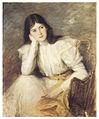 Jacques-Émile Blanche, 1897 - Jeune fille rêveuse - Portrait de Berthi Capel.jpg