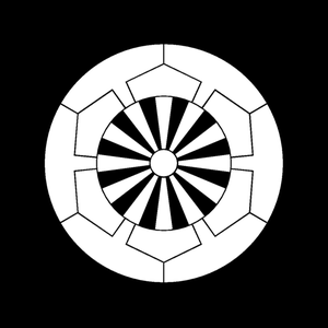 Takada Domain - Image: Japanese crest Sakakibara gennjikuruma