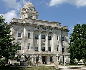 English: County courthouse for Jasper County, ...