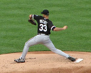 Javier Vázquez - Vázquez with the White Sox in 2008