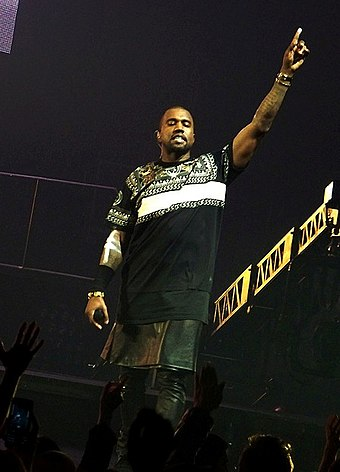 Kanye West the most awarded performer with six wins Jay-Z Kanye Watch the Throne Staples Center 5 (crop).jpg
