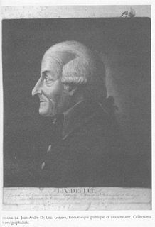 Jean-André Deluc Swiss geologist and meteorologist (1727-1817)