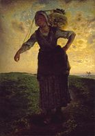 Jean-Francois Millet - A Norman Milkmaid at Greville - Google Art Project.jpg