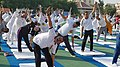 Jitendra Singh performing Yoga, on the occasion of the 4th International Day of Yoga 2018, in Jammu (1).JPG