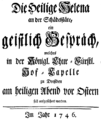 Johann Adolph Hasse - Sant'Elena al Calvario - german titlepage of the libretto - Dresden 1746.png