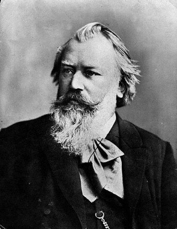 Photo Johannes Brahms via Wikidata