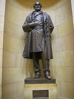 John B. Sanborn -  John B Sanborn statue. MN State Capital by John Karl Daniels
