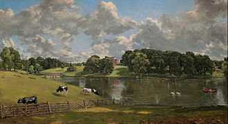 Locus amoenus - John Constable's Wivenhoe Park, Essex: An idyllic scene featuring trees, grass, and water