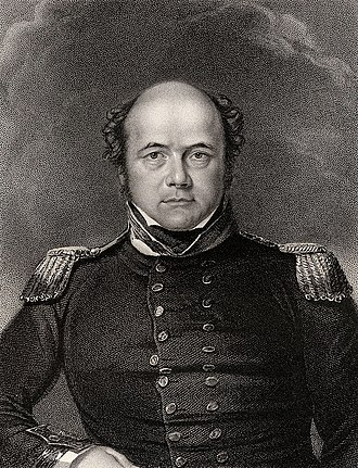 Coppermine Expedition of 1819–22 - Lieutenant John Franklin, the leader of the expedition.