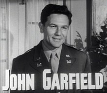 John Garfield en 1947 en a cinta Gentleman's Agreement.
