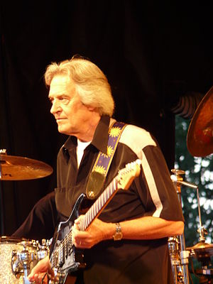 Jazz guitarist - Jazz fusion pioneer John McLaughlin at a festival in Limburgerhof, Germany, 2008