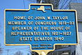 John W. Taylor marker Ballston Spa.jpg