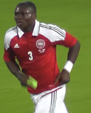 Jores Okore - Okore playing for Denmark against Slovakia in 2012