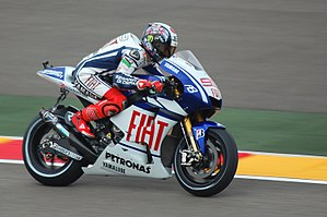 2010 Grand Prix motorcycle racing season - Image: Jorge Lorenzo Motorland