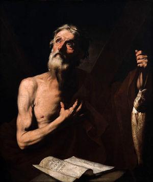 Saint Andrew, patron of the fishermen