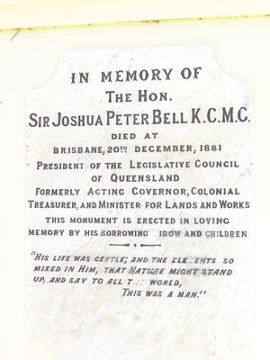 Joshua Peter Bell - Plaque on memorial, Jimbour, 2007