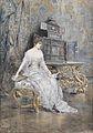 Joszi Arpad Koppay Bildnis einer jungen Frau mit Notenblatt 1892.jpg