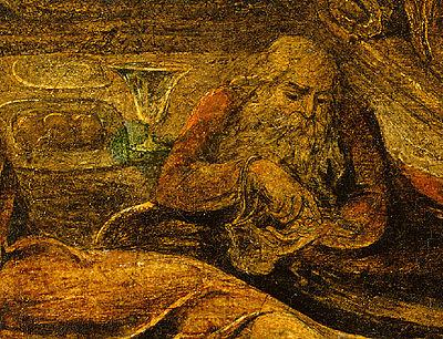 Judas in William Blake's The Last Supper c 1799 Butlin 434 detail.jpg