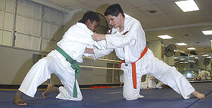 Keikogi - These two judoka are wearing judogi
