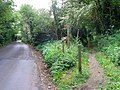 Junction of footpath with St Margaret's Road, Bungay - geograph.org.uk - 430006.jpg