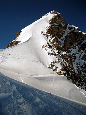 Jungfrau - The summit from near the Rottalsattel