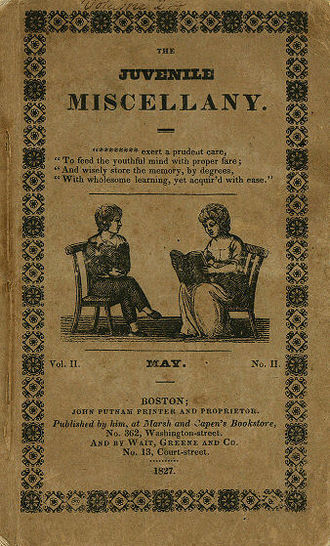 Juvenile Miscellany - Cover, May 1827