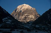 Sacred Mount Kailash in Tibet is regarded as the spiritual abode of Shiva.