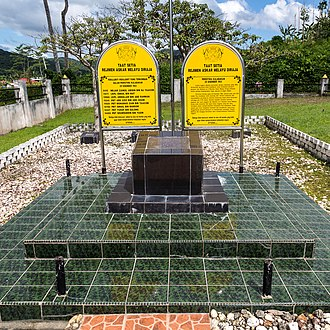 Royal Malay Regiment - The Memorial in Kalabakan, Sabah commemorates the seven Royal Malay Regiment soldiers and their commander who were killed on 29 December 1963 when intruders from Indonesia attacked their camp.