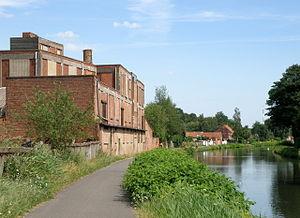 Dessel–Turnhout–Schoten Canal - The Dessel-Turnhout-Schoten Canal in Schoten, Belgium, with bicycle trail.