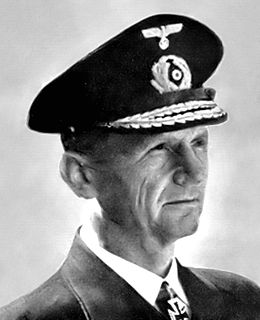 Karl Dönitz President of Germany; admiral in command of German submarine forces during World War II