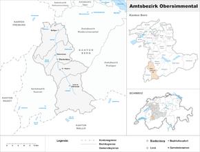 Karte von Amtsbezirk Obersimmental