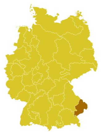 Roman Catholic Diocese of Passau - Image: Karte Bistum Passau