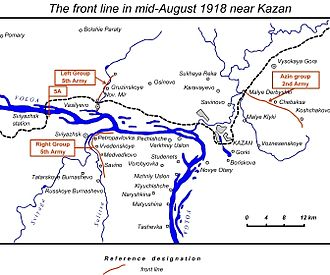 Kazan Operation - Fronts in August 1918, Kazan outskirts