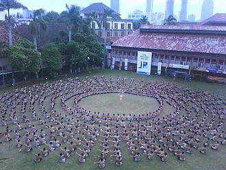 Kecak - A kecak dance being performed at Kolese Kanisius, Jakarta
