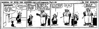 Keeping up with the Joneses - Comic strip by Pop Momand, 1921.