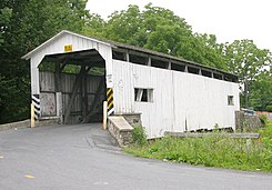 Keller's Mill Covered Bridge Three Quarters View 3000px.jpg
