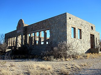 Kent, Texas - Ruins of Kent Public School