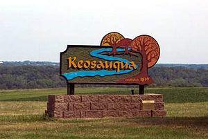 Keosauqua, Iowa - Keosauqua welcome sign