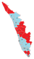 Kerala Map Constituency wise Results for Loksabha 2014.png