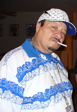 Frost (rapper) - Frost in the studio after his recording session with Serio in 2008.