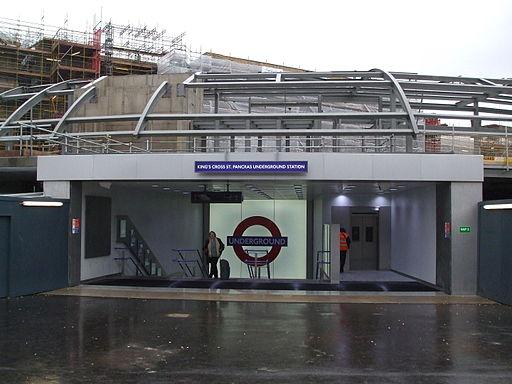 King's Cross St Pancras stn northern entrance