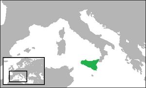 Sicilian nationalism - Location of Sicily