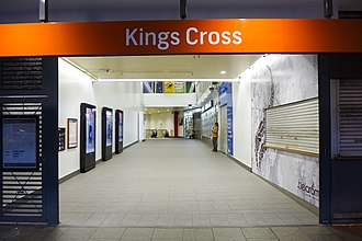 Kings Cross railway station, Sydney - Station front in August 2017