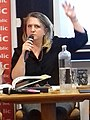 Kitty Crowthen illustrator is giving a lecture in Athens, Greece, 2009 photo 6.jpg