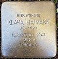 Klara Haimann, Mayener Straße 28.jpg